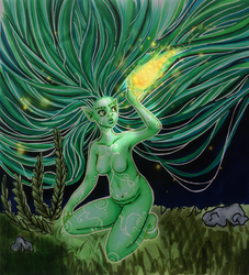 Dryad and her Fireflies by BatWitch