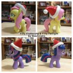 Filly Twili and Fluttershy - Christmas by Nsomniotic