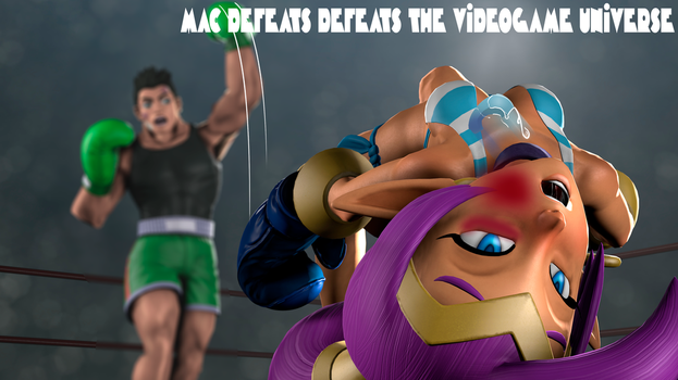 MAC DEFEATS THE ENTIRE VIDEOGAME UNIVERSE (poster) by anotherpunisher