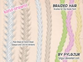 Braided Hair Brush Set by Cospigeon