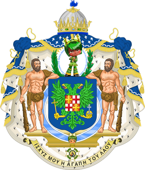 Greater coat of arms of Imperial Greece (IM) by EricVonSchweetz