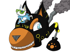Mini boss concept: Wub and Dogstep by silhouette345