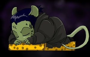 Rat Nap by ScarySeregwen