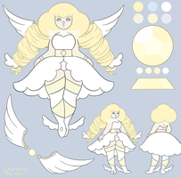(ADOPT-CLOSED) White Quartz Gem - Steven Universe by CharmmyColour