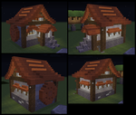 Small(Ish) Water Wheel House by SGT-Alix-MC