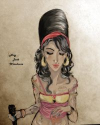 .Amy Winehouse. Colored. by LordOfWhiteSoul