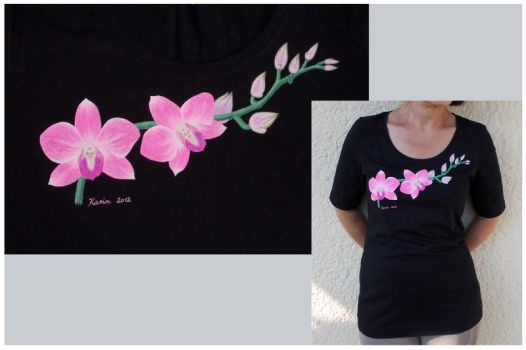 Orchids - shirt by KarinM