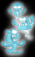 Mixels - Ghosts of the Nindjas (Glowing) by PogorikiFan10