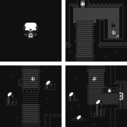 Dark'n'Cold - a Bitsy game by ThKaspar