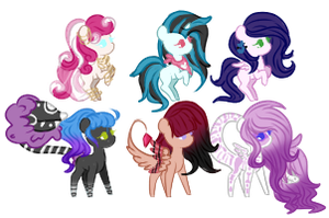 Pocket Sized Adopts | 1/6 OPEN by baep-sae