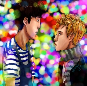 ChanBaek - Luces de Colores by Arhatdy