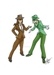 By Inspector97:  The Question and the Riddler by Rodlox