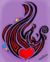 Oopsie Doodle: Flame Heart, February 11, 2015 by MelianMarionette
