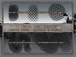 Metal Mesh Texture Brushes by nathies-stock