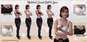 Mass Effect 3 - Modded Casual Outfit Jane for XPS by KurauAmami