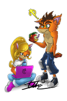 Crash And Coco by Imotep92