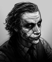 Heath Ledger - The Joker by PatrickBrown