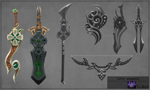 Celtic-weapons by Ti--Rex