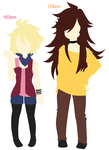 Height Comparison: Felix and Rico by VIMYO