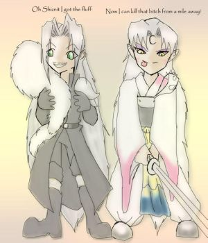 sephiroth and sesshomaru by Blueness