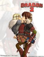 Astrid Kissing Hiccup by Auro0109