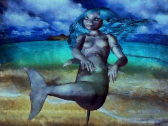Nude girl to anthro dolphin mermaid TF 10 by Cyberalbi