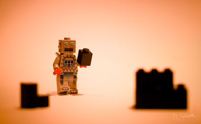 Robot on Mars. by marc-bruno