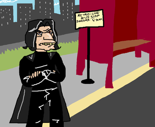 COMISSION: snape and the bus by KnifeGuy