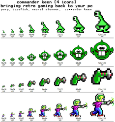commander keen -4icons- by gr8koogly
