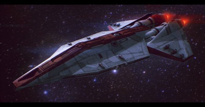 Star Wars Republic Corvette Commission by AdamKop