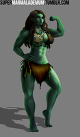 Female Orc - Commission by MarmaladeMum