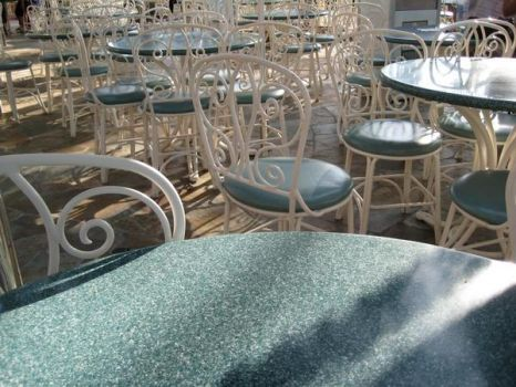 Wallpaper of Chairs and tables by zortcrum