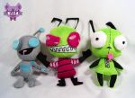 Invader Zim 4.5 inches tall plushies by TrashKitten-Plushies