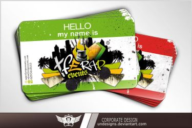 Tfe Rap Events Card by Undesigns