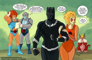 TLIID 378. Black Panther and the Thundercats by AxelMedellin