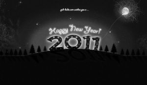 New Year 2011 Wallpaper by PsdDude