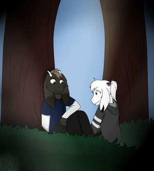 Meeting under the tree by Domcia13