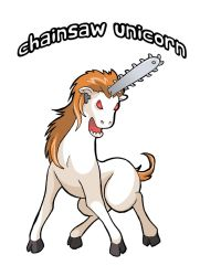 Chainsaw Unicorn by JakeRichmond