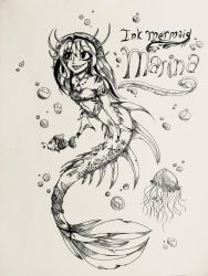 :Too late for Mermay, and too early for Inktober: by MiralynnMage