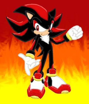 shadow the hedgehog coloured by soniadow
