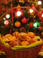 Basket of Hungarian Dill-Cottage Cheese Biscuits by Kitteh-Pawz