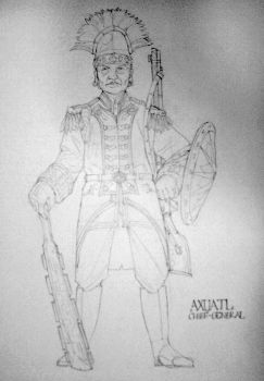 Axuatl Officer by LucreziaNavarre