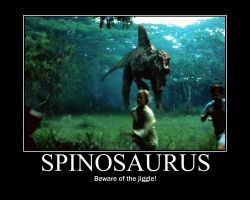 JP Spinosaurus Poster by Ronnie-R15