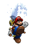 Super Mario and FLUDD by Joelchan