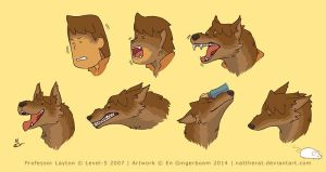::COMMISSION:: Werewolf Layton face references by nattherat