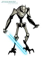 DRAW GENERAL GRIEVOUS from THE CLONE WARS by grantgoboom