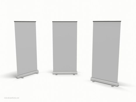 3D Roll-up Banner | Pull up Stand by devgrafizone