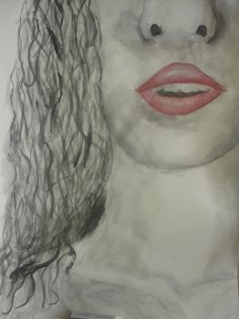 Watercolour Painting - Lips by Suiag
