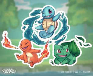 Pokemon_Stickers_Gen1 by BagelHero-Works
