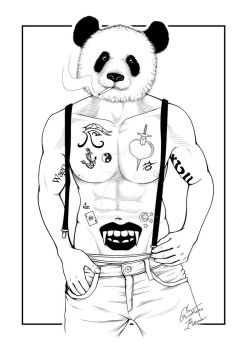 Man panda - commission by CristianoReina